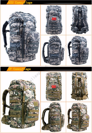 Men's Military Backpacks Backpack Multi-function Waterproof High-quality Nylon B