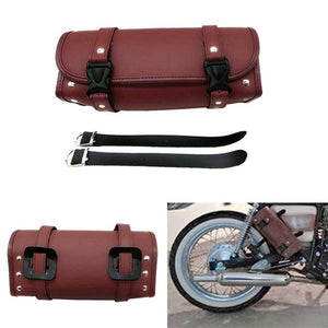 Universal Motorcycle Tool Bag Synthetic Leather Black or Brown Round Bag