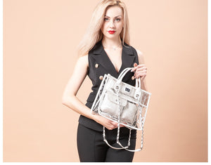 LOVEVOOK women Clear transparent handbag fashion shoulder bag