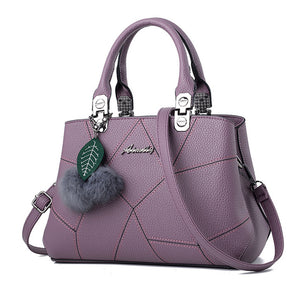 Women's PU Leather Handbags Top-Handle Women Bag Purse Ladies Shoulder Bag