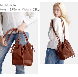 Nico Louise Women's Split Leather Shoulder Bag Female Suede Casual Crossbody Bag 6 COLORS
