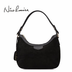 Nico Louise Women's Real Suede Leather Small Shoulder Bag