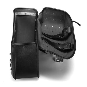 Pair Motorcycle PU Leather Saddlebag Side Bags For Harley Sportster 1200XL 883
