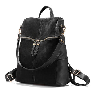 LOVEVOOK women's backpack nubuck leather school bags for teenage girl. 3 Colors