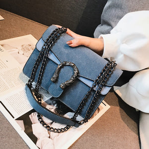 Women's Crossbody Horseshoe Bag High Quality PU Leather Famous Brand Luxury Hand