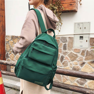 New Waterproof Nylon Backpack for Women