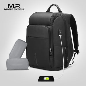 Mark Ryden Men's Backpack Multifunction USB Charging Laptop Bag Large Capacity