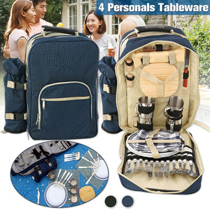Outdoor 4 person picnic bag pack camping outdoor cup, plates