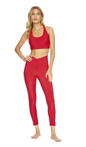 BeachRiot Ribbed Legging - Red