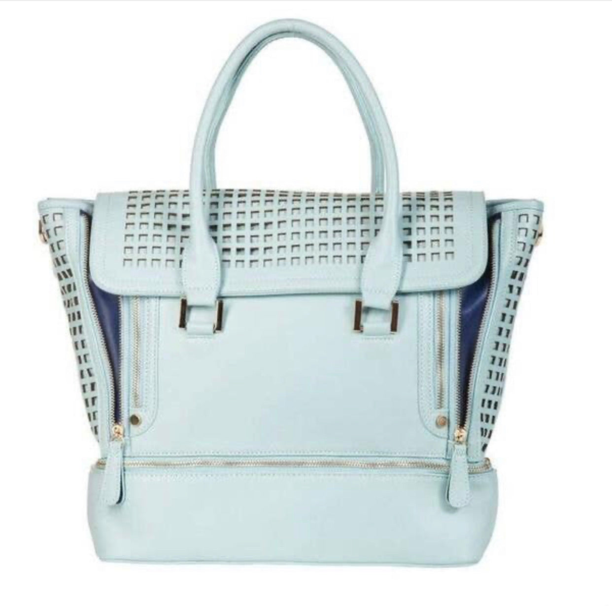 Zadie Gym to Work Tote Bag - Light Blue