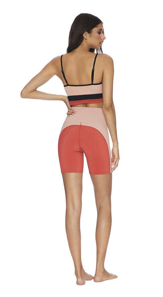 BeachRiot COLORBLOCKED RIBBED BIKE SHORT