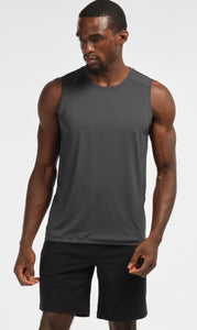 Rhone - Fuse Sleeveless Workout Shirt - Shadow Gray