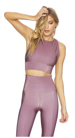 BeachRiot Tara Shine Top Mauve
