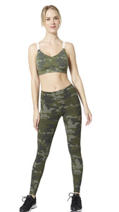 Vimmia - Fire Bralette Olive Camo with Sand Stripe