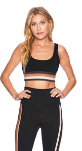 BeachRiot Leah Top Brown Stripe