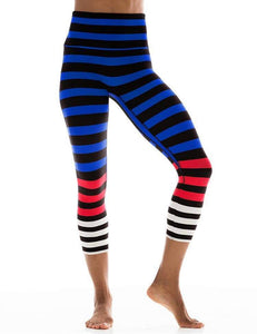 K-Deer Susan Striped Capri
