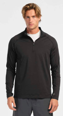Rhone Courtside 1/4 Zip Pullover - Black