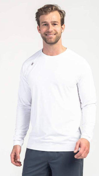Rhone Reign Long Sleeve Tee - White