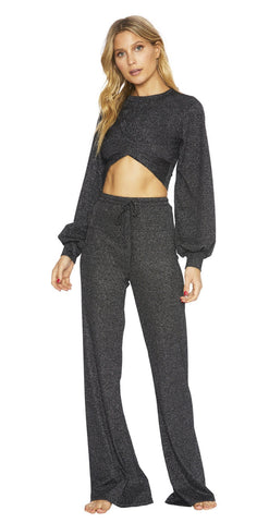 BeachRiot Riot Lounge Pant Sparkle Black