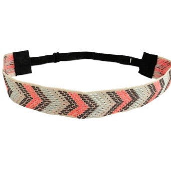 Headbands of Hope - Grey & Pink Arrow - headband
