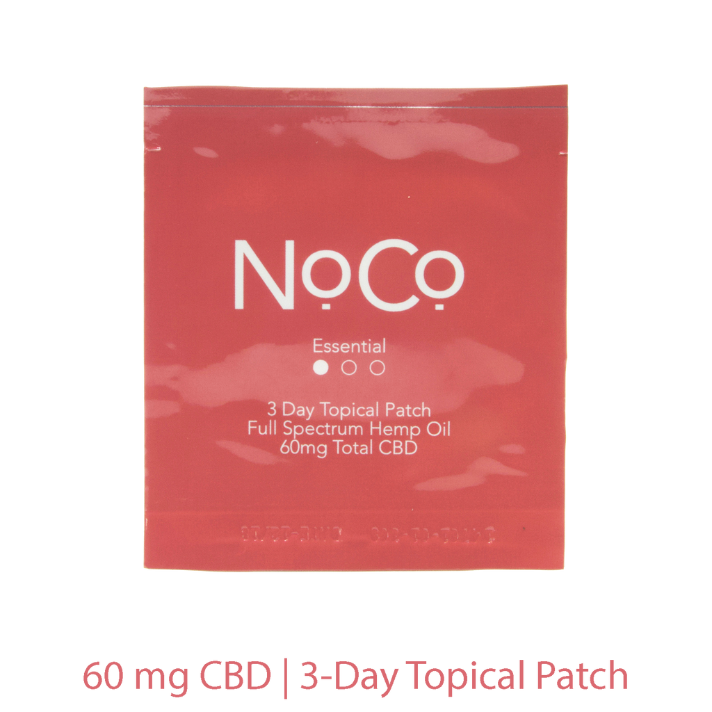NoCo Essential Topical Patch | 60mg CBD Works Over 3-Days