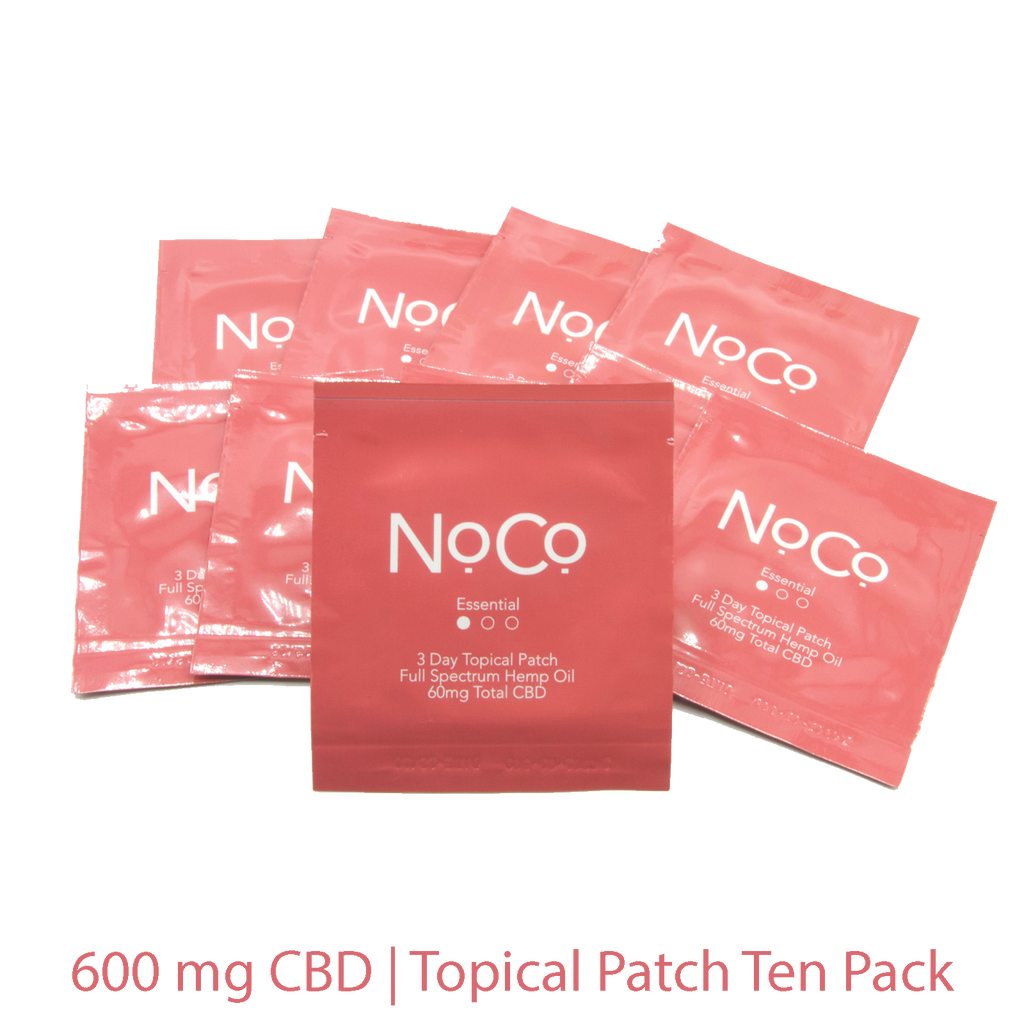 NoCo Essential Topical Patch Ten Pack | 600mg Total CBD