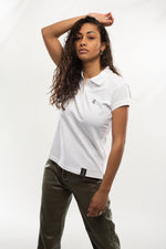 Polo Blanc brodé Lion