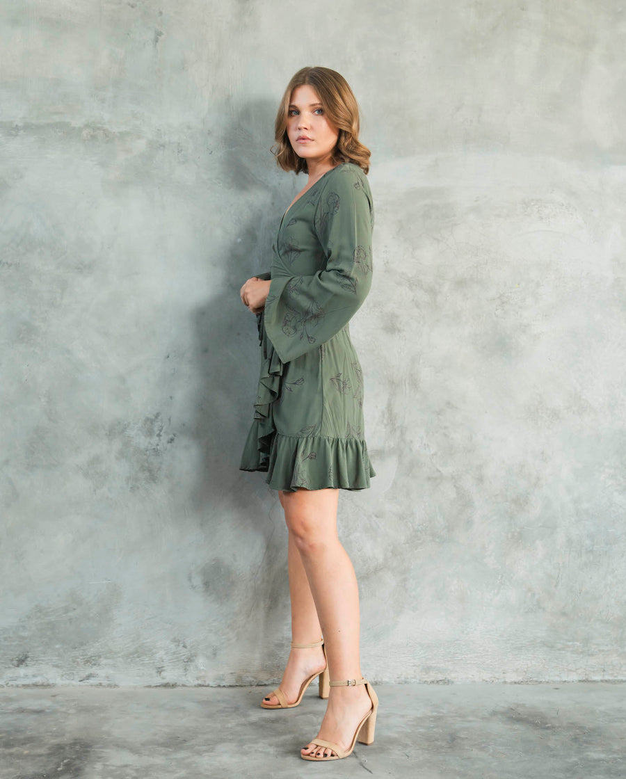 Little Wings Wrap Dress