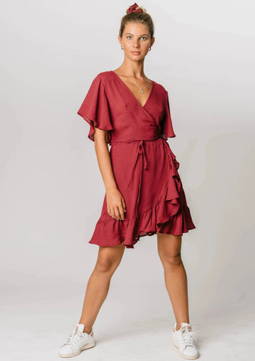 Chasing Fire Wrap Dress