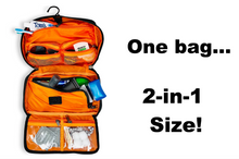 Load image into Gallery viewer, Orange / Gray inside /Toiletry Bag