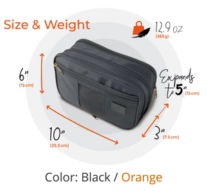 Black / Orange inside /Toiletry Bag