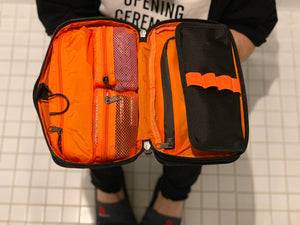 Orange / Gray inside /Toiletry Bag