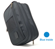 Load image into Gallery viewer, Black / Blue inside /Toiletry Bag