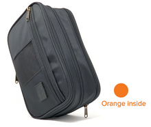 Load image into Gallery viewer, Black / Orange inside /Toiletry Bag