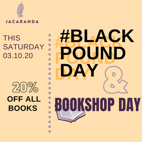 20% off on all our books for Black Pound Day and Bookshop Day