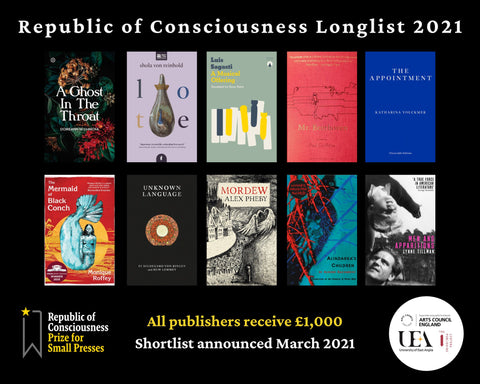The Republic of Consciousness Prize 2021 Longlist