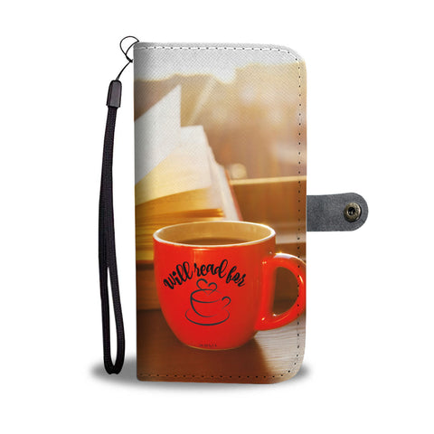 Will Read For Coffee Wallet/Phone Case