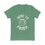 Here to Paddy V-Neck Unisex Tee