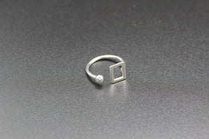 sterling silver Ring, white