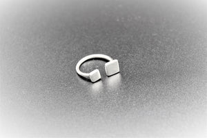 Ring, white, sterling silver