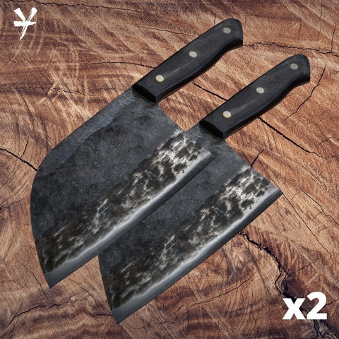 Yakushi™ Handmade Butcher Knife (set of 2)