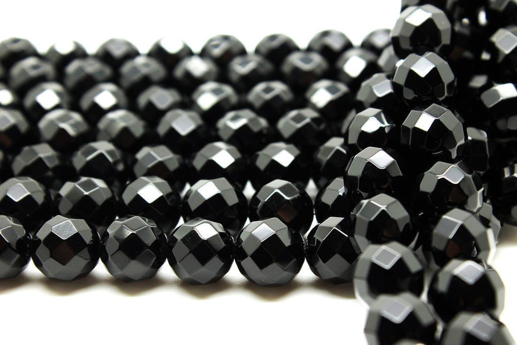 AA 10mm Large Round Black Onyx Beads Natural Gemstone Wholesale Jewelry Making