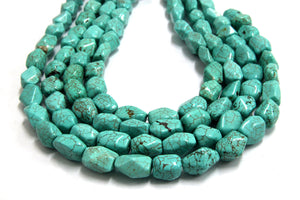 Natural Green Magnesite Turquoise Loose Spacer Gemstone Nugget Beads Wholesale