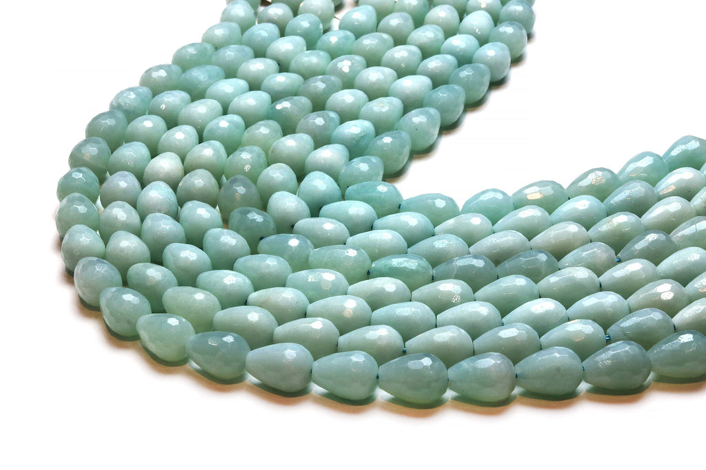 Amazonite Teardrops Beads Loose Faceted Gemstone DIY Jewelry Supply Wholesale