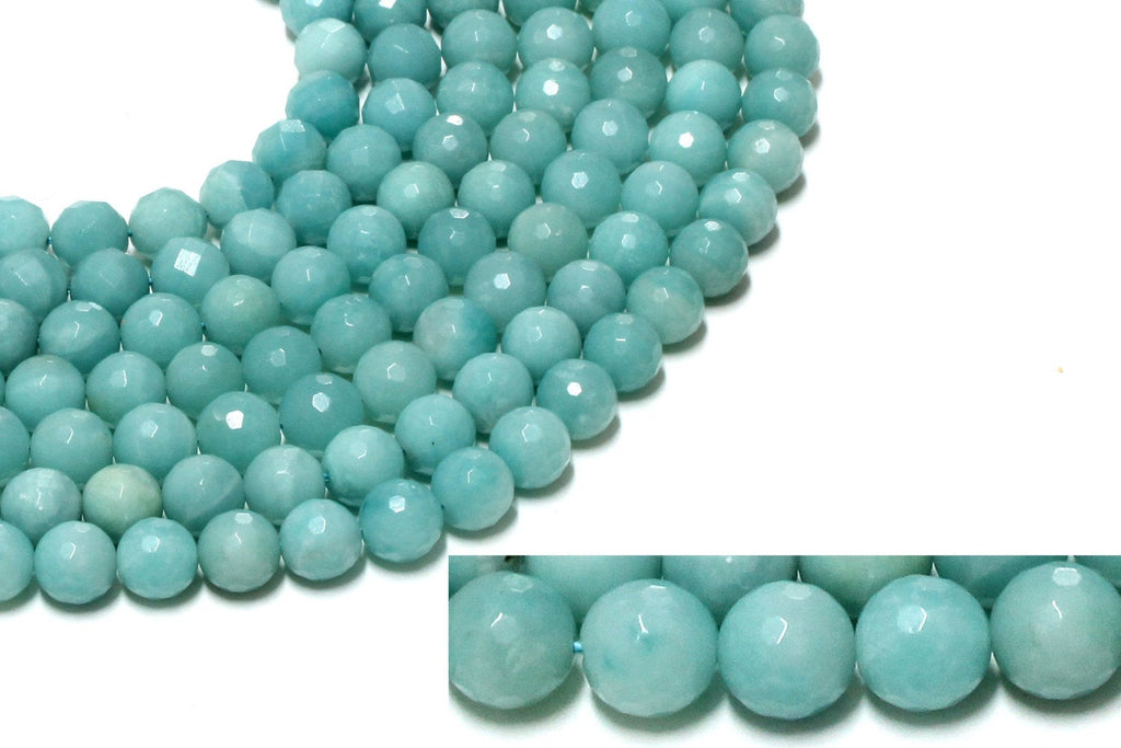 Loose Round Natural Amazonite Spacer Wholesale Gemstone Strand Beads 4mm - 12mm