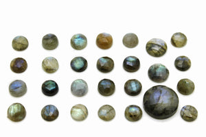 8mm Natural AA Round Labradorite Faceted Cabochon Loose Gemstone Jewelry Making