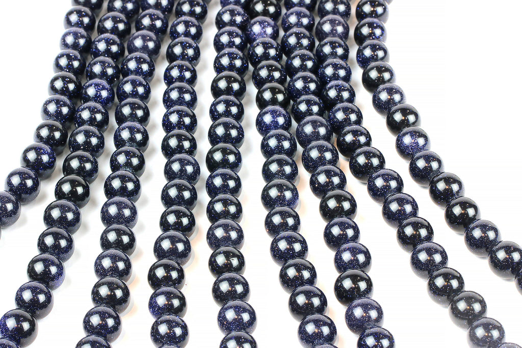 "Smooth Round Dark Goldstone Loose Beads Jewelry Making Wholesale 16"" Strand"