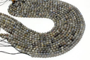 Natural Labradorite Faceted Round Loose Bulk Gemstone Beads 3mm 4mm 6mm 8mm 10mm