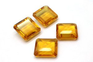 Heated Citrine Square Natural Golden Loose Stone Wholesale Gemstone DIY Jewelry