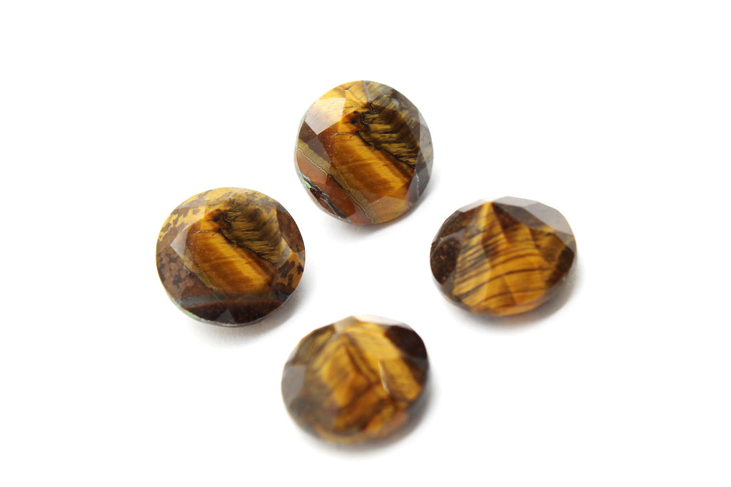 Tiger Eye Calibrated Gemstone Faceted Natural 16mm Loose Wholesale DIY Jewelry